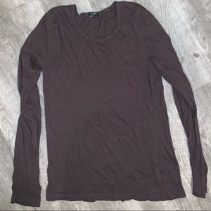 J. CREW BROWN LONG SLEEVE T-SHIRT SIZE M